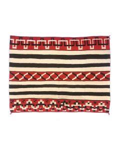 "Navajo Chief's Variant Blanket c. 1900s, 56.5"" x 82"" (T90851B-1220-001)"
