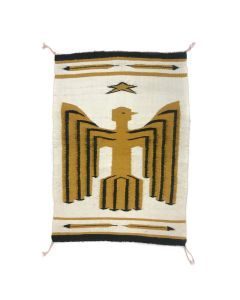 """Binary file Navajo Contemporary Pictorial Rug with Eagle and Star Design, 27"""" x 19"""" (T90856B-0521-001)"""