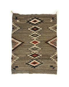 """Navajo Red Mesa Rug with Mahogany Dye c. 1915, 52"""" x 42"""" (T90867A-1020-002)"""