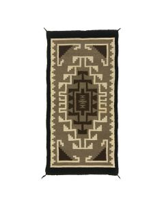 """Navajo Two Grey Hills Rug c. 1950s, 58"""" x 28"""" (T90867A-1020-010)"""