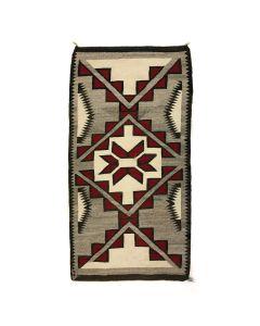 """Navajo Crystal Rug c. 1910-20s, 67"""" x 35.5"""" (T91051-0220-012)"""