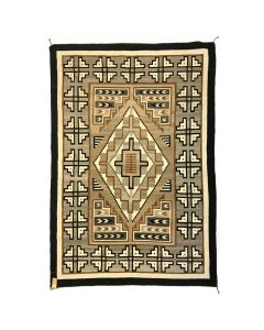 "Mary J. Yazzie - Navajo Two Grey Hills Rug c. 1980s, 95"" x 65.5"" (T91051-0220-015)"
