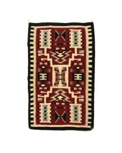 "Navajo Crystal Storm Pattern Rug c. 1980s, 59.5"" x 39.25"" (T91102A-1020-002)"