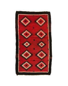 """Navajo Ganado Rug c. 1920s, 80"""" x 56"""""""
