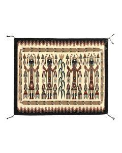 "Navajo Contemporary Yei Rug, 30.25"" x 36.25"" (T91138A-0120-033)"