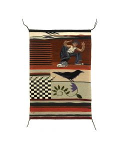 "Marlowe Katoney - Contemporary ""Memento - Tucson"" Pictorial Rug (T91145A-1220-006)"
