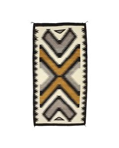 """Large Navajo Crystal Rug c. 1940s, 98.5"""" x 51.5"""" (T91150A-0621-006)"""