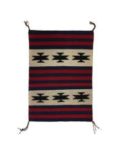 """Navajo Moki Revival Blanket Sampler c. 1980-90s, 35.5"""" x 25.5"""" (T91243B-0420-001)"""