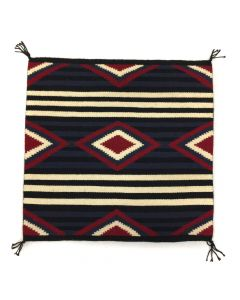 "Navajo Moki/3rd Phase Chief's Revival Blanket Sampler c. 1980-90s, 24.5"" x 25.25"" (T91243B-0420-003)"