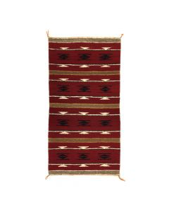 """Navajo Ganado Rug c. 1960s, 38"""" x 20"""" (T91243B-0420-004)"""