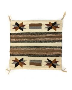 "Navajo Single Saddle Blanket with Valero Stars c. 1940-50s, 30.25"" x 32.5"" (T91243B-0420-008)"