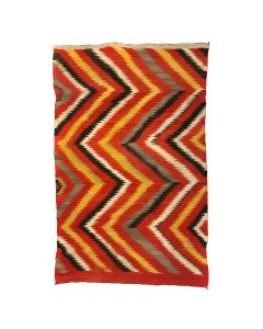 "Navajo Transitional Eye Dazzler Blanket c. 1880s, 80"" x 54"" (T91359A-0619-002)"
