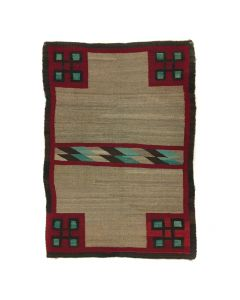 "Navajo Double Saddle Blanket c. 1910s, 45"" x 31"" (T91454-0420-002)"