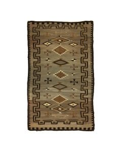 "Navajo Crystal Rug with Maltese Crosses and Bow and Arrow Designs c. 1920s, 70"" x 56"" (T91454-0420-003)"