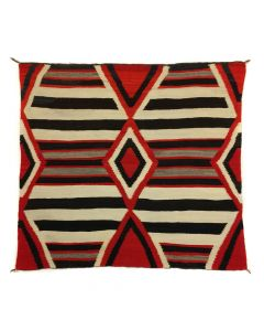 "Navajo 3rd Phase Transitional Chief's Blanket c. 1890s, 63.5"" x 74.5"" (T91454-0420-011)"