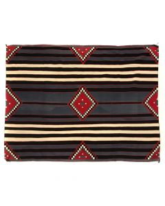 "Navajo Third Phase Chief's Blanket c. 1940s, 67.25"" x 94"" (T91468-0520-006)"