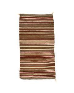 """Navajo Double Saddle Blanket c. 1930-40s, 56"""" x 31"""" (T91470-0621-005)"""