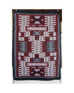 "Navajo Storm Pattern Rug by Gaberial Benally, c. 1970-80s, 76.5"" x 53.5"" (T91505-1013-020)"