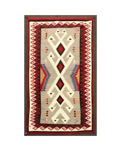 "Navajo Crystal Rug with a Bisti Border c. 1920-30s, 133"" x 76"" (T91692-0220-001)"