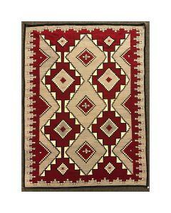 """Navajo Ganado Rug c. 1930s, 135.75"""" x 102"""" (T91692-0220-003)"""