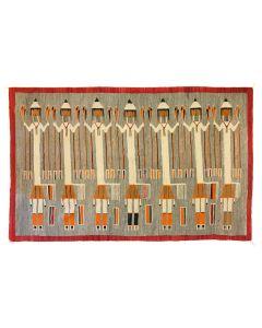 "Navajo Yei Pictorial Rug c. 1930s, 68"" x 110.25"" (T91692-0220-003)"