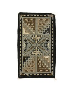 "Navajo Two Grey Hills Rug c. 1970s, 52"" x 30.5"""