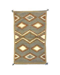 """Navajo Crystal Rug c. 1950-60s, 49.5"""" x 29"""""""