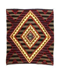 "Navajo Chiefs Blanket Design Pictorial Rug with Weaving Comb Motifs, c. 1910s, 103.5"" x 84"" (T91924-0421-002)"