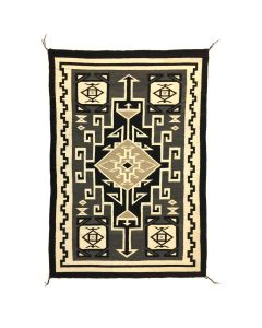 "Navajo Two Grey Hills Rug 65.75"" x 45.75"" (T91924-0421-003)"