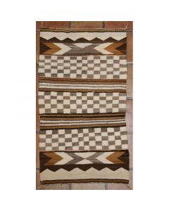 "Navajo Double Saddle Blanket, c. 1910, 54"" x 31"""