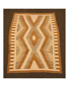 """Navajo Crystal Rug, c. 1950, 66"""" x 50"""""""