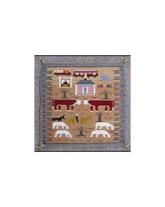 "Navajo Farm Pictorial Rug, c. 1980s, 40"" x 39.5"" (T91950B-0413-018)"