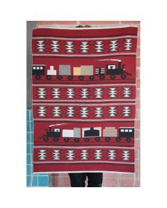 Navajo Train Pictorial Rug