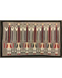 "Large Navajo Yei Pictorial Rug c. 1930s, 69.5"" x 127.5"""