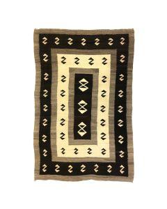 """Navajo Crystal Rug c. 1910s, 83.5"""" x 54.25"""""""