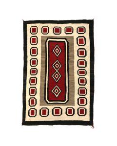 """Navajo Ganado Rug c. 1910-20s, 72"""" x 49.5"""" (T91958-1219-001)"""