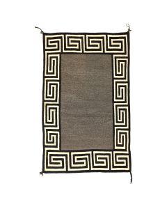 """Navajo Double Saddle Blanket, c. 1920-30s, 51"""" x 32.5"""" (T91963-0221-001)"""