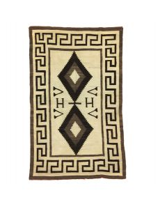 """Navajo Crystal Rug c. 1910s, 77"""" x 52.5"""" (T91963-0321-001)"""