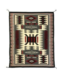 "Ella Williams - Navajo Crystal Storm Pattern Rug c. 1992, 108"" x 60"""