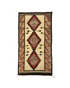 """Navajo Ganado Rug c. 1910-1919, 79.5"""" x 43"""" (T92010A-0220-002)"""