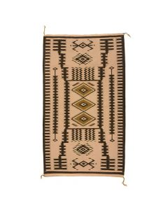 "Navajo Crystal Storm Pattern Rug c. 1980s, 65.25"" x 38.5"" (T92017A-0620-001)"