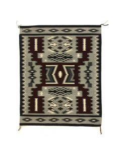 "Navajo Crystal Storm Pattern Rug c. 2000s, 59.5"" x 49"" (T92019A-1020-001)"