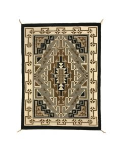 """Navajo Two Grey Hills Rug c. 1990s, 53.5"""" x 40"""" (T92019A-1020-002)"""