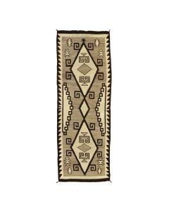 "Navajo Crystal Runner c. 1910s, 122"" x 43"" (T92025A-0821-001)"