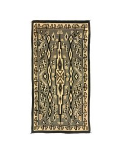 "Navajo Two Grey Hills Large Rug c. 1930s, 145"" x 78"" (T92210-1012-010)"