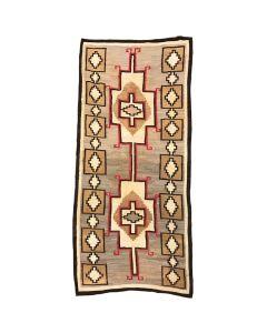 """Navajo Crystal Rug c. 1910-20s, 124"""" x 55.5"""""""