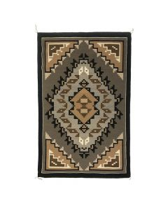 "Isabel Yazzie - Navajo Two Grey Hills Rug, 47"" x 30"""