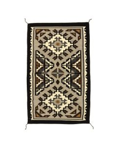 "Lorraine Taylor - Navajo Two Grey Hills Rug, Contemporary, 47"" x 28"" DONATION WILL BE MADE TO BLESSINGWAY (T92308-0314-015)"