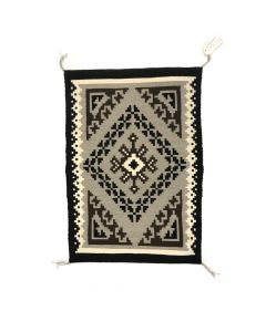"Navajo Two Grey Hills Rug by Calandra Henderson, 36"" x 25"""