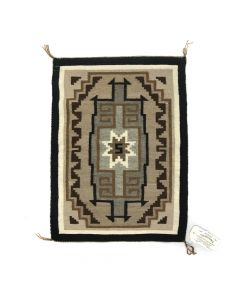 "Navajo Two Grey Hills Rug by Rita Manygoats, 27"" x 20"""